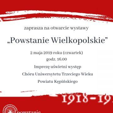 """Wystawa """"Powstanie Wielkopolskie"""" wPowiatowej Bibliotece Publicznej wKępnie"""