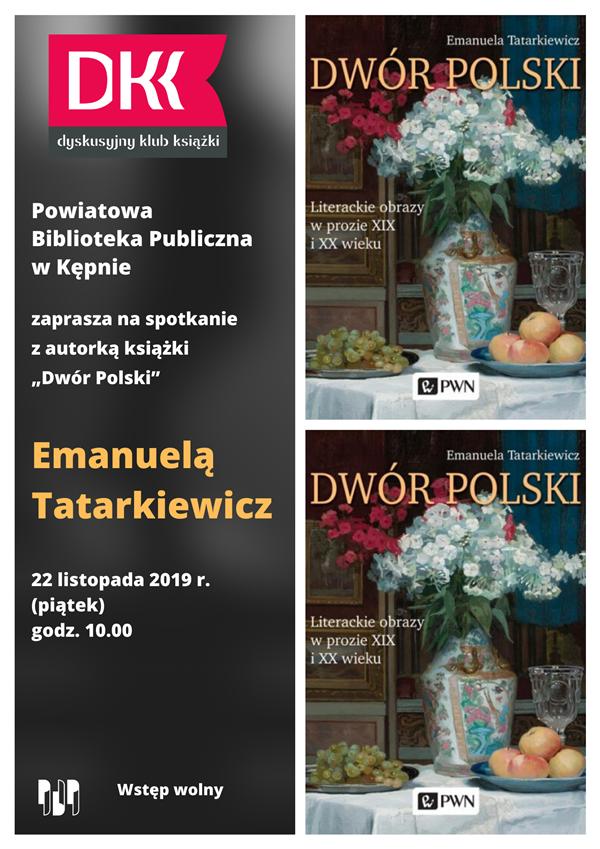 Spotkanie autorskie z Emanuelą Tatarkiewicz