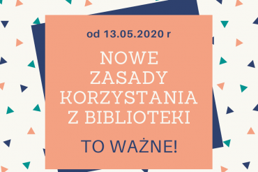 Powiatowa Biblioteka Publiczna wKępnie ponownie otwarta dla czytelników od13.05.2020 r.