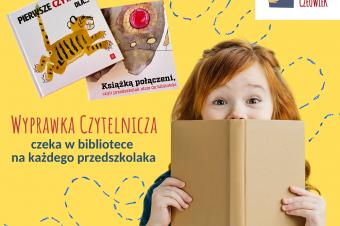 Zapraszamy przedszkolaków poodbiór wyprawek czytelniczych